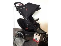 Phil & Teds Sport 2 double stroller its similar to Navigator model 1 year old with free extras