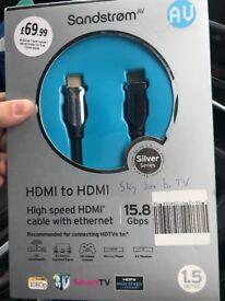 HDMI to HDMI - brand new in box.