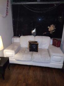 3 piece white sofa set