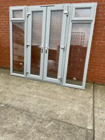 Upvc French doors 94x81 and 55x81 inches £1000