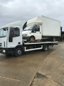 24-7 CAR VAN RECOVERY TOWING TRUCK VEHICLE BREAKDOWN FORKLIFT TRAILER TRANSPORT BIKE DELIVERY