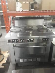 Electric Garland six burner electric stove with convection oven underneath for only $2595