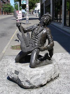 Jimi Hendrix Statue Glossy Poster Picture Photo Monument Guitar Rock Roll 1944