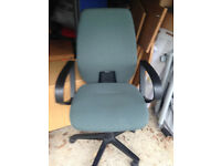 comfortable office swivel green office chair