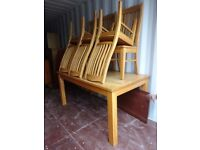 Solid Oak extend table with chairs,can deliver