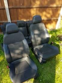 Vectra c half leather seats
