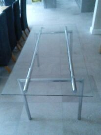 Habitat Glass Dining Table/Desk