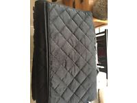 Black bed throw