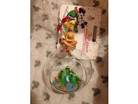 Disney Store Tinkerbell Open Bauble Christmas Tree Sketchbook Decoration
