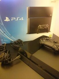 Ps4 in box with controller and all its cables!
