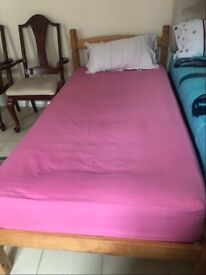 Single Pinewood Bed - Available For Sale!