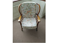 Comfortable armchair (one of two); Two seater chair also for sale