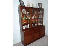 NEW CLASSIFIED £70 ONO For Sale G Plan Mahogany sideboard with glazed illuminate shelving