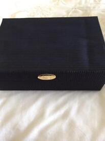 Christian Dior jewellery box with mirror plus separate pull out compartment .