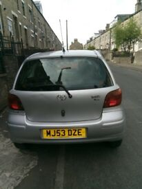 Toyota yaris good condition 12 months mot for further information ring me on 07539832600 thanks.
