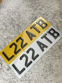 "CAR NUMBER PLATES/SMALL CAR NUMBER PLATES/TINTED/16"" SET £35"