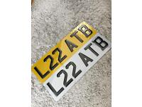 """CAR NUMBER PLATES/SMALL CAR NUMBER PLATES/TINTED/16"""" SET £35"""