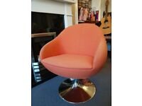 **sold** Orange retro swivel chair