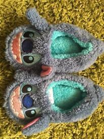 Stitch slippers size 11/12