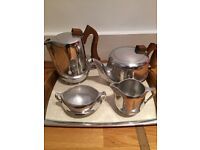 5 piece Picquot Wear Tea/Coffee set with Tray