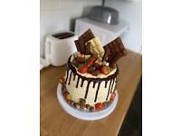 Chocolate cake vanilla buttercream and chocolate drip
