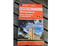 AS NEW Ordnance Survey OS Explorer 1:25000 1:25,000 Map 241 Shrewsbury, Wem, Shawbury & Baschurch