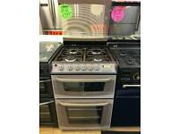 CANNON 60CM GAS DOUBLE OVEN COOKER IN BEIGE
