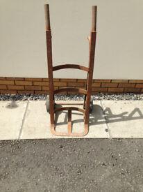 old metal trolley
