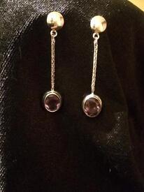 Earrings - Amethyst