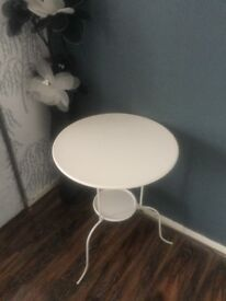 NEW White Round Side/ Bedside Table EXCELLENT CONDITION!
