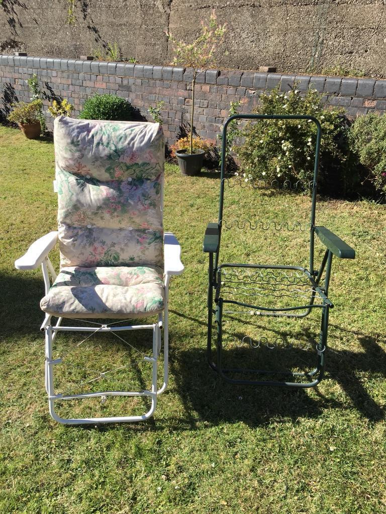 Two Recliner Garden Chairs In Liverpool Merseyside