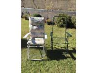 Two Recliner Garden Chairs