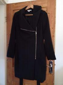 Black Maternity coat size 10-12.