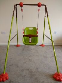 Foldable baby swing