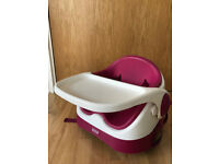 Mamas and Papas Baby Bud Booster Seat - Raspberry