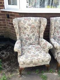 VINTAGE WINGBACK ARMCHAIR FREE DELIVERY LDN🇬🇧