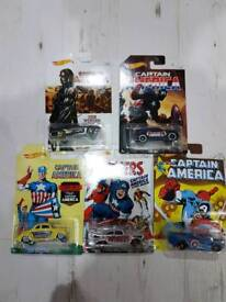 Captain America hot wheels 5 different cars