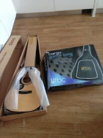 Brand new never been played left handed guitar and case