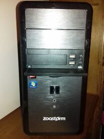 Zoostorm PC Tower - Windows 7 home premium 4GB RAM - Hard disk 457GB