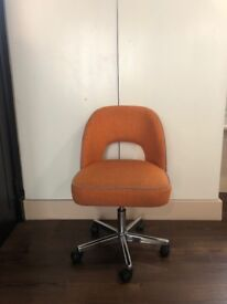 MADE Lloyd Office Chair, Marigold Orange and Persian Grey