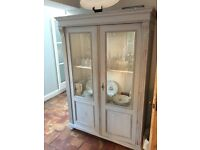 Large grey and white antique kitchen sideboard