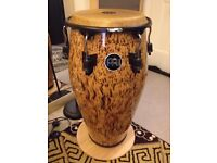 "Meinl 11 3/4"" Marathon Designer Wood Conga Percussion - Leopard Burl Finish in NEW & MINT"