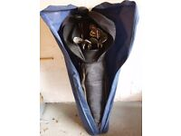 Golf clubs plus bag and bag cover for travel