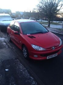 08 Peugeot 206 1.4 petrol. 48.000 miles. Full service history immaculate condition inside and out