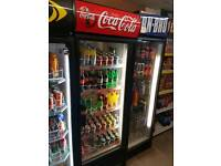 Coca cola single display shop fridge