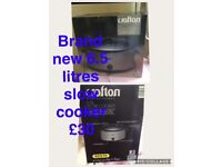 Brand new Crofton 6.5 litre slow cooker