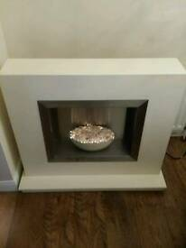 Electric Fireplace with 2kw heater (Cream)