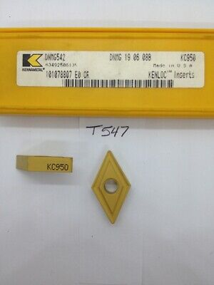 5 New Kennametal Dnmg 542 Carbide Inserts. Grade Kc950. T547