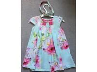 Ted baker dress 9-12 months with matching hair band