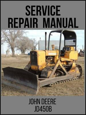 John Deere Jd450b Crawler Tractor Service Repair Manual Tm1033 On Usb Drive